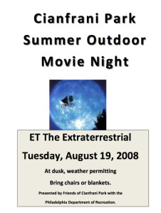 Park Movie Night August 19